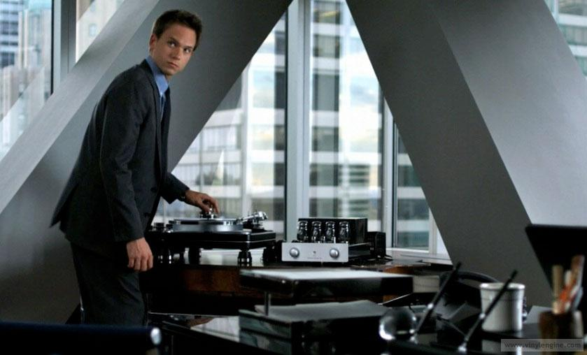 Suits Harvey Specter record player